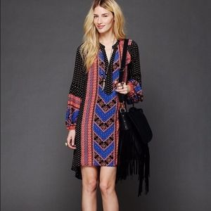 Free People Peacemaker Dress V-Neck XS High Low